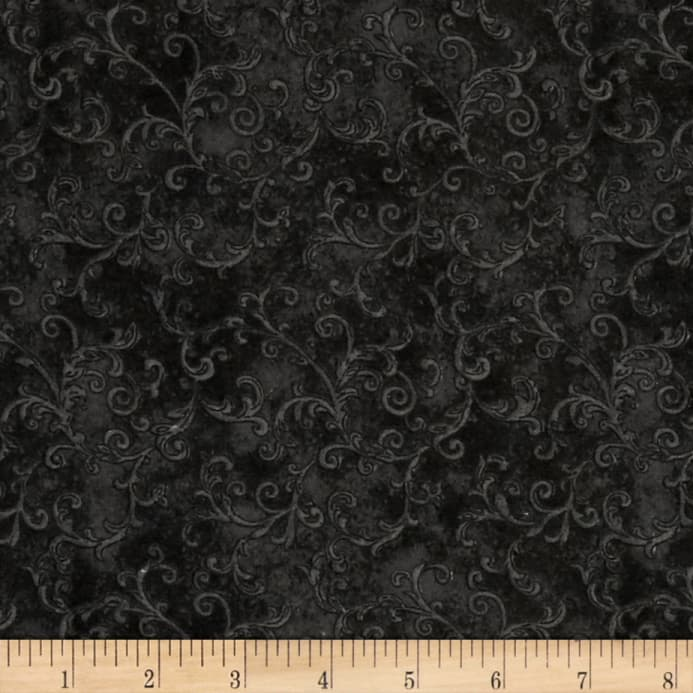 Essentials 108 Quot Wide Back Flannel Filigree Black