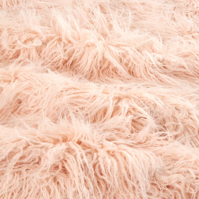 Shannon Lux Fur Curly Yak Peal Pink Discount Designer