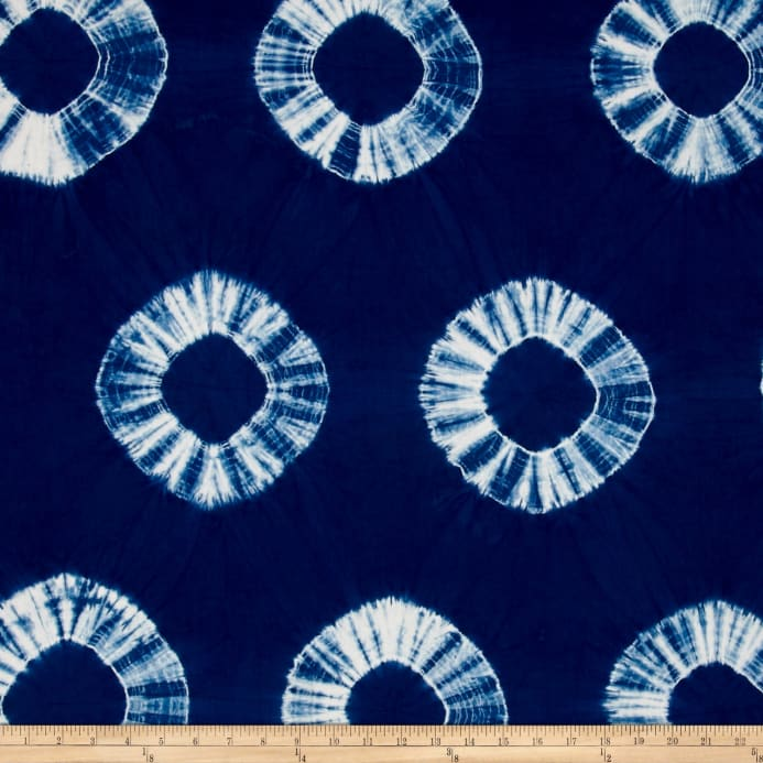 Indian Batik Wind Cave Tie-Dye Circles Navy/White - Discount ...