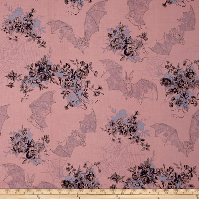 Alexander Henry Haunted House Angelas Attic Mauve Fabric