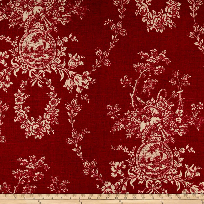 bird passion traditional curtains drapery flowers butterfly home sample red fabric toile product design