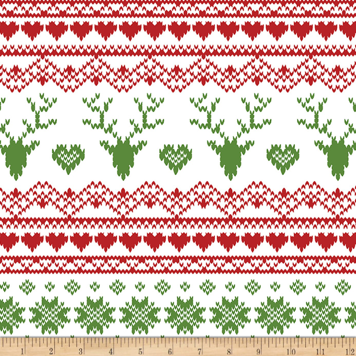 Bolt By Girl Charlee Jolly Holiday Jersey Knit Fairisle Deer Red ...