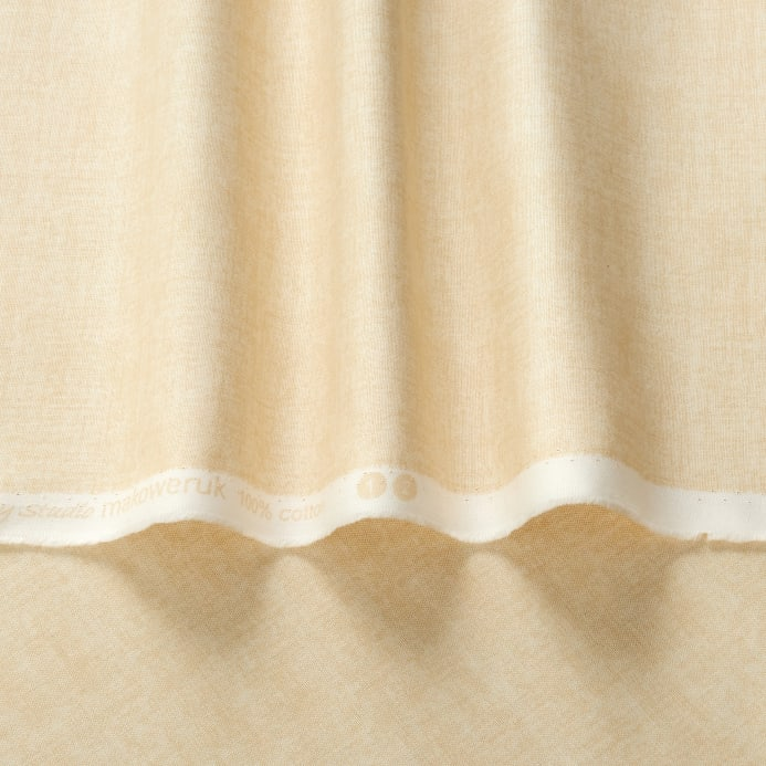 Linen Texture Pale Cream Discount Designer Fabric