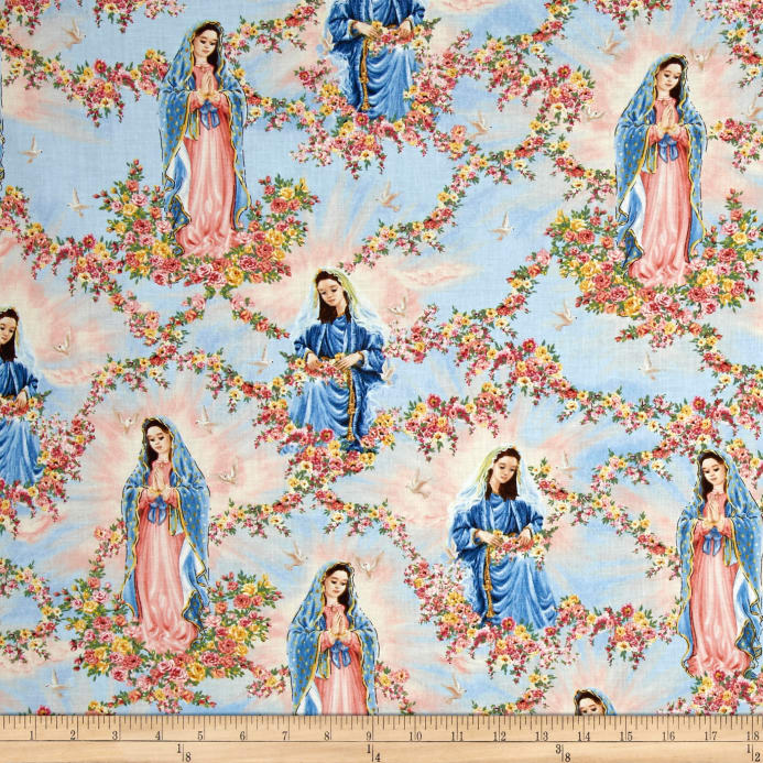 Timeless Treasures Our Lady Virgin Of Guadalupe Sky Discount