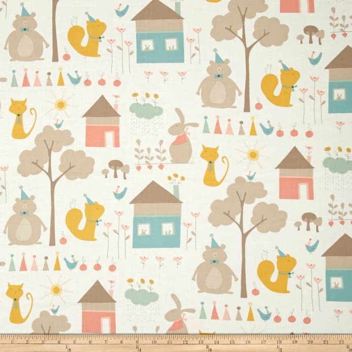 Moda Corner Of 5th Fun Play Day Ivory Discount Designer Fabric