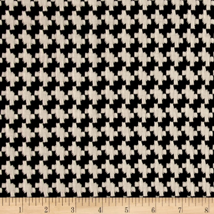 Double Knit Jacquard Houndstooth Black/White - Discount Designer ...