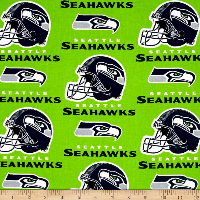 NFL Cotton Broadcloth Seattle Seahawks Green - Discount Designer ... 4797a7bf9