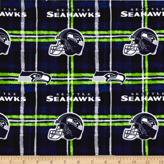 NFL Flannel Seattle Seahawks Blue - Discount Designer Fabric ... 06f327e0d