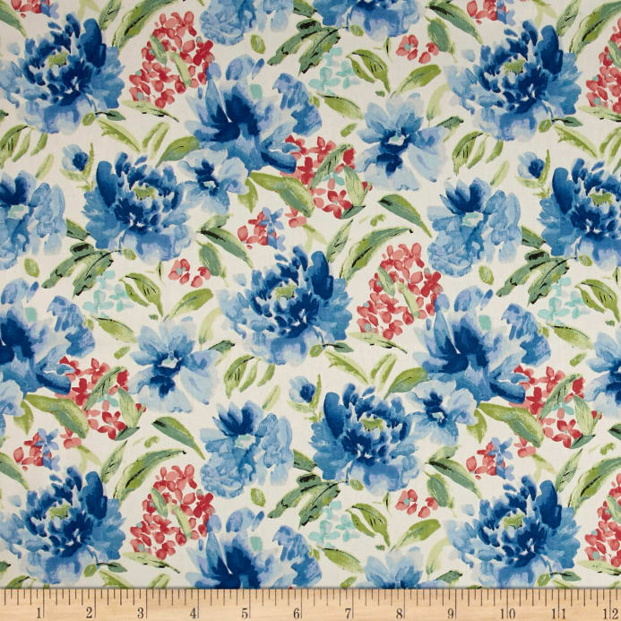 Waverly Spring Forth Bluebell Discount Designer Fabric Fabric