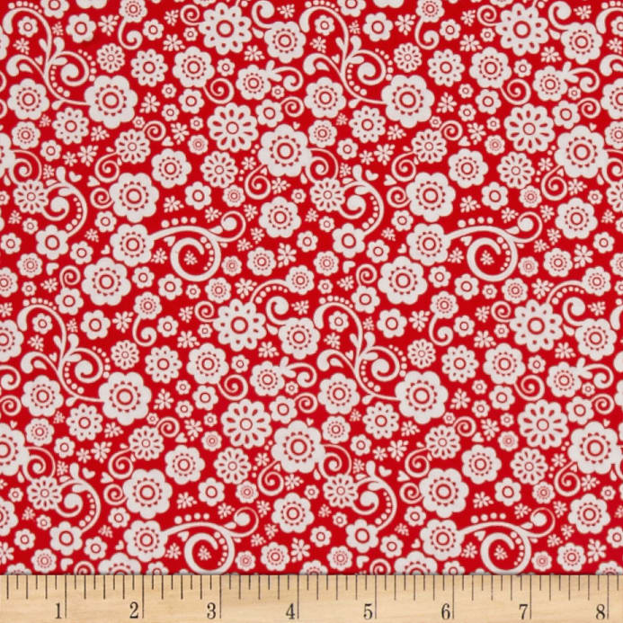 Pin By Storytelling On Happy Fabric: Riley Blake Happy Day Floral Red