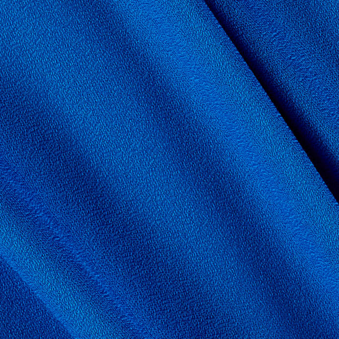 Rayon crepe solid ocean blue discount designer fabric for Rayon fabric