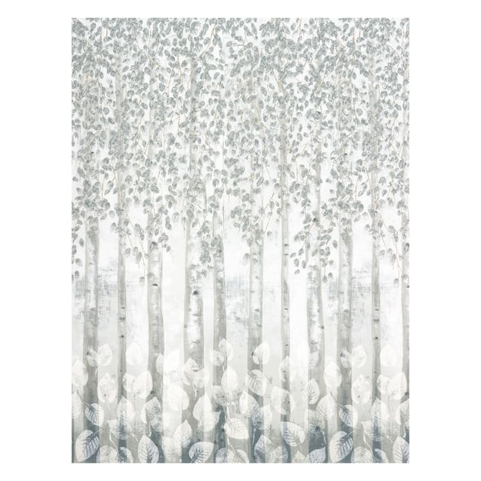 Kaufman Sound Of The Woods Metallic Border Ice Discount