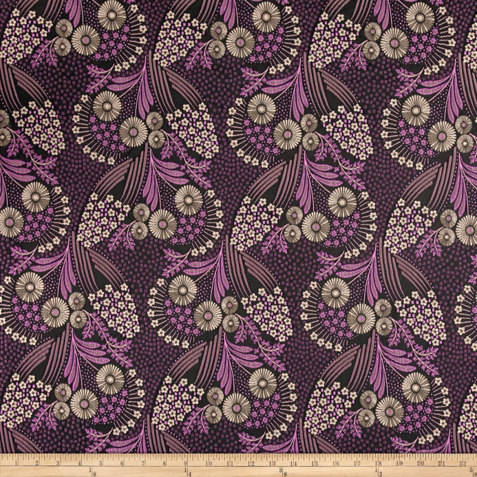 french designer jacquard floral purple bronze discount designer