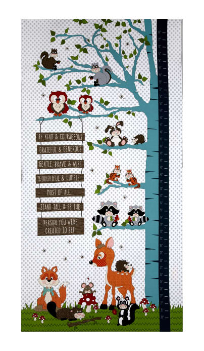 To Be Or Not To Be 235 Whimsy Forest Growth Chart Panel Lt Gray