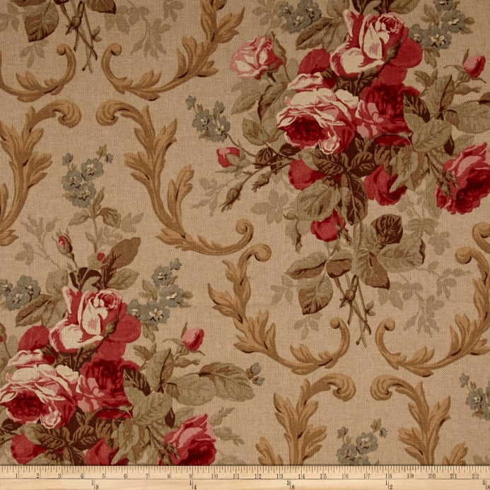 ralph lauren home lcf19731f cottage rose basketweave tea rose rh fabric com rose cottage quilt fabric country cottage rose fabric