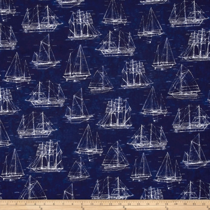 Kaufman vintage blueprints digital dots sailboats indigo discount zoom kaufman vintage blueprints digital dots sailboats indigo malvernweather Images