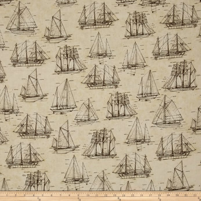 Kaufman vintage blueprints digital platinum dots parchment sailboat zoom kaufman vintage blueprints digital platinum dots parchment sailboat malvernweather Images