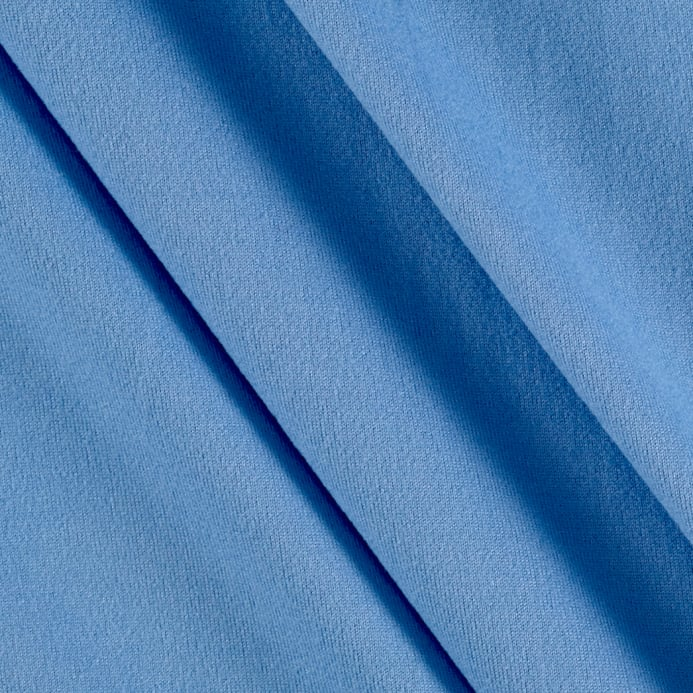 651e08a9329 zoom Fabric Merchants Double Brushed Solid Jersey Knit Blue Light