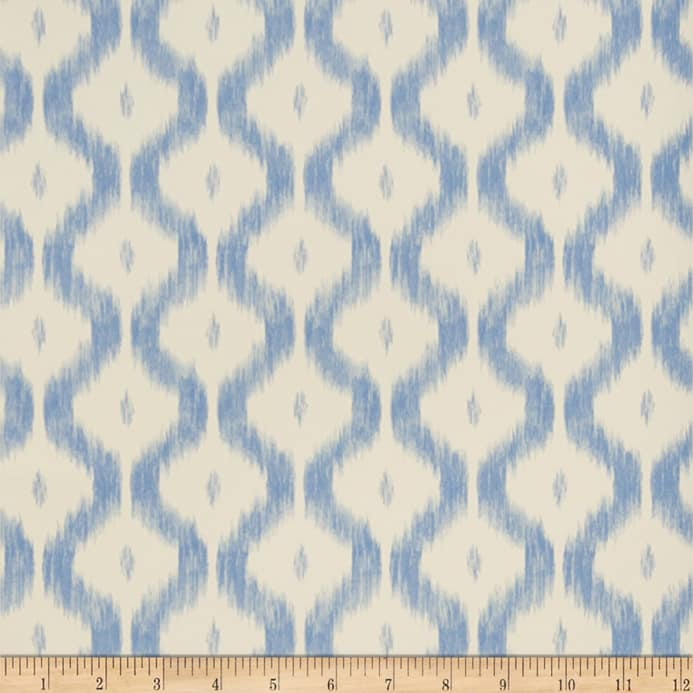Zoom Charles Faudree Benoit Ikat Wallpaper China Blue Double Roll