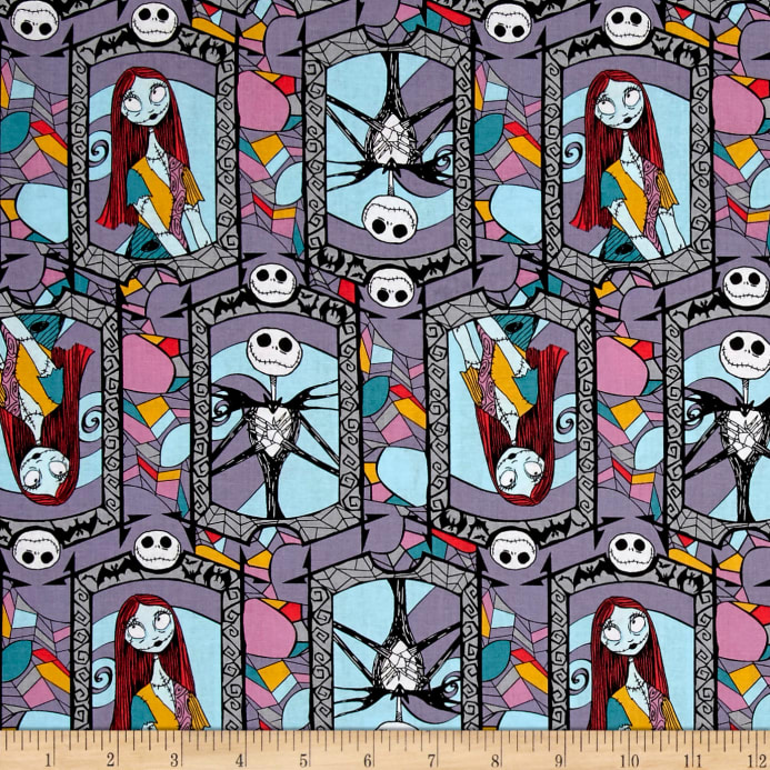 zoom disney nightmare before christmas sally and jack stained glass multi - Disney Nightmare Before Christmas
