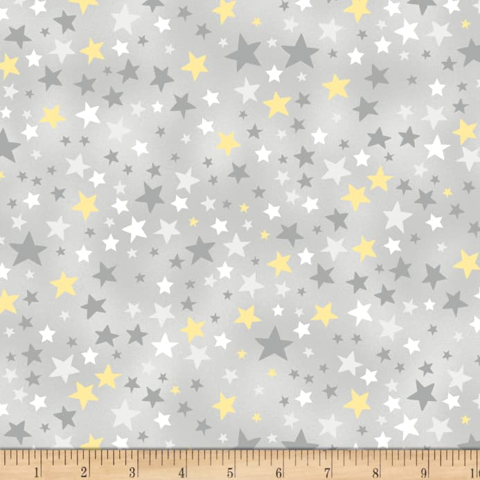 Wilmington One Sheep, Two Sheep Stars Allover Gray - Discount ...