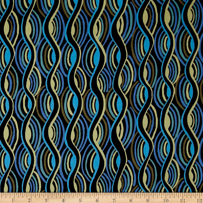 competitive price f72b3 79fc6 Pucci Stretch Cotton Sateen Curved Line Blue