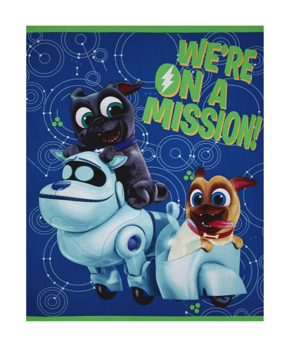 Zoom Disney Puppy Dog Pals We Are On A Mission Panel Blue