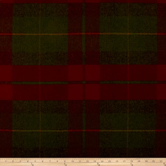 Zoom Ralph Lauren Home Lcf68170f Coach Road Tartan Melton Wool Crimson