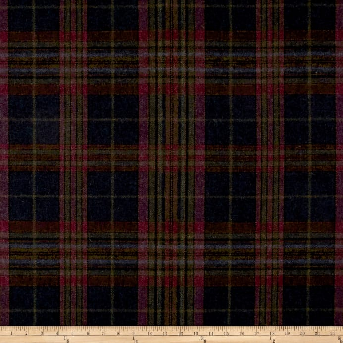 Zoom Ralph Lauren Home Lfy68178f Hardwick Plaid Melton Wool Logan Berry