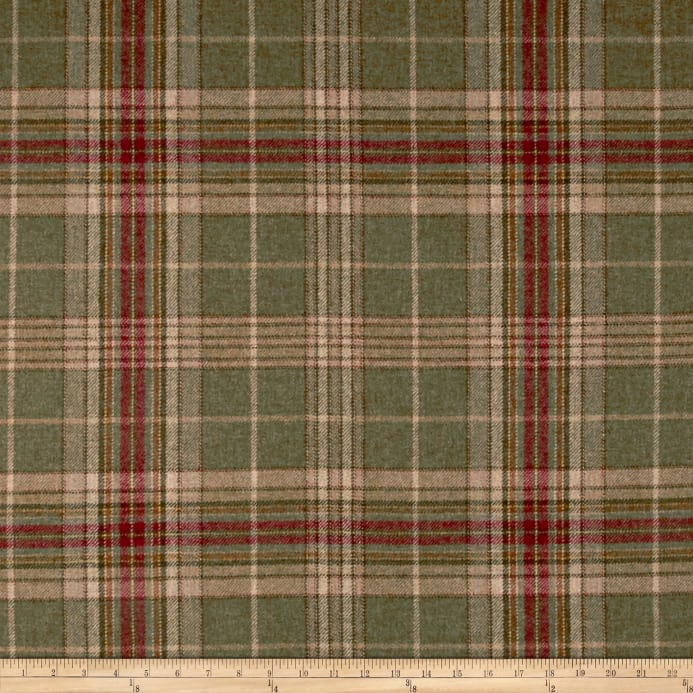 Zoom Ralph Lauren Home Lfy60540f Hardwick Plaid Melton Wool Woodland