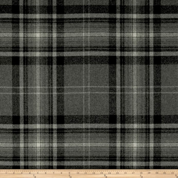 Zoom Ralph Lauren Home Lfy68187f Hawthorne Plaid Melton Wool Flint