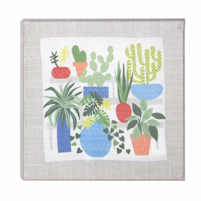 Botanical Stretched Canvas Embroidery Kit Discount Designer Fabric