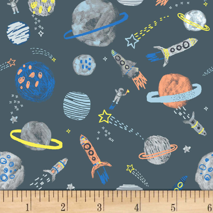 Dear stella flannel gravity planets gunmetal discount for Gravity fabric