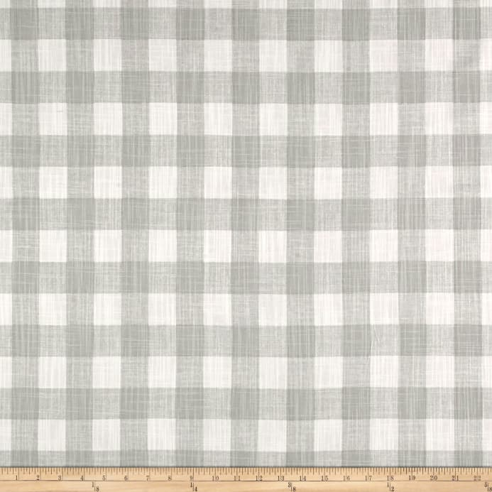 Zoom Premier Prints Buffalo Plaid Slub Canvas French Grey