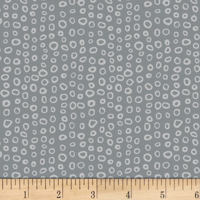 Zoom Stof Fabrics Denmark Dot Mania Small Circles Dark Grey