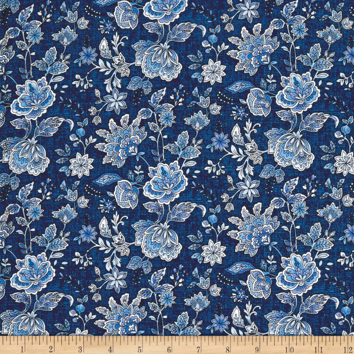 Peacocks In Blue Paisley Floral Bluewhite Discount Designer
