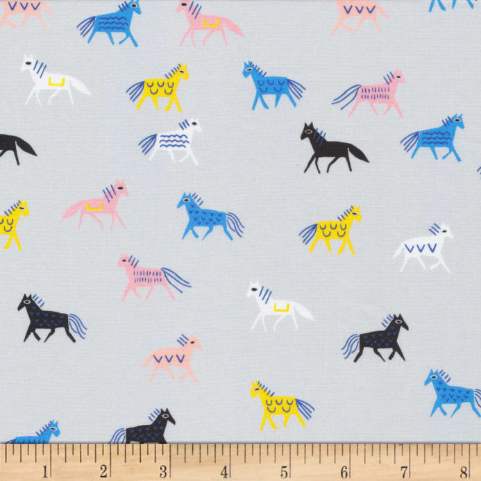 ac43df5c031 zoom Cloud9 Fabrics Organic No Place Like Home Horse of a Different Color  Gray/Multi