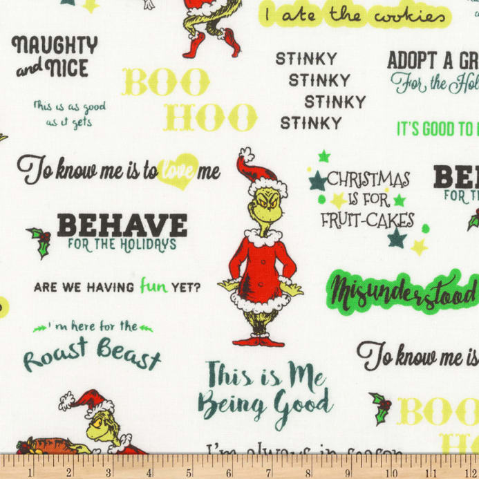 Christmas Words.Kaufman How The Grinch Stole Christmas Words Holiday