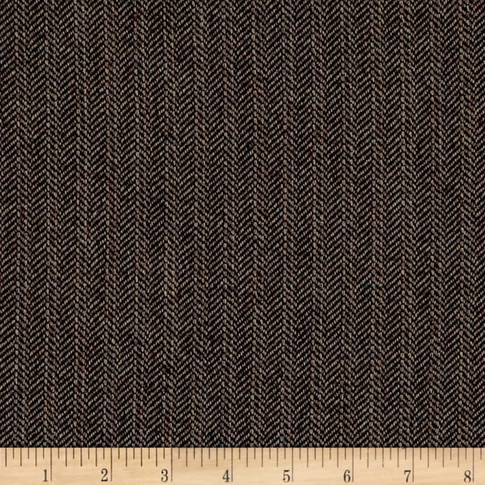 Herringbone Wool Suiting Brown Multi - Discount Designer Fabric ... 974c73f4682d