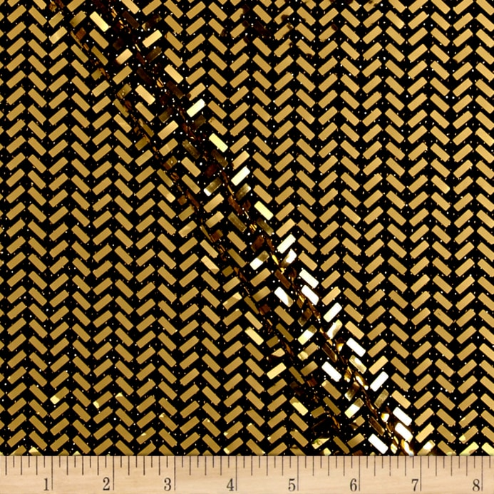 Telio Mermaid Knit Foil Chevron Black/Metallic Gold - Discount ...