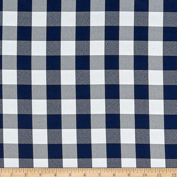 d1fb65fc37 Picnic Gingham Yarn-Dyed Navy Blue/White - Discount Designer Fabric ...