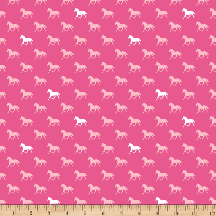 9e1eaeacb1f Derby Horses Pink In Knit - Discount Designer Fabric - Fabric.com
