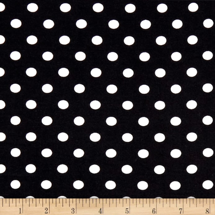 c3d4d821bc4 zoom Double Brushed Poly Jersey Knit Small Polka Dot Ivory/Black
