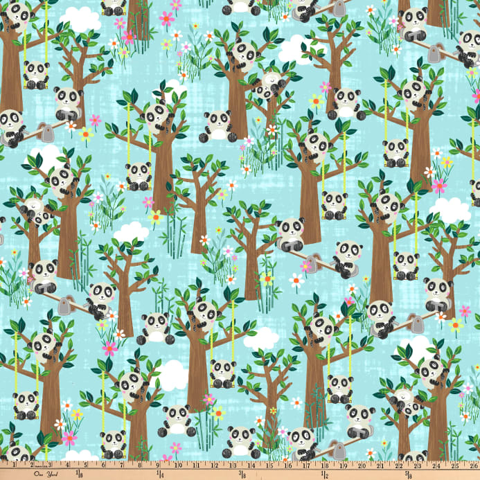 Blank Quilting Panda Park Panda In The Park Light Blue