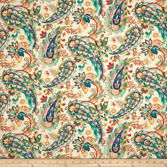 Cotton Duck Basics Precious Paisley Bolt 8 Yards Spring Discount Designer Fabric
