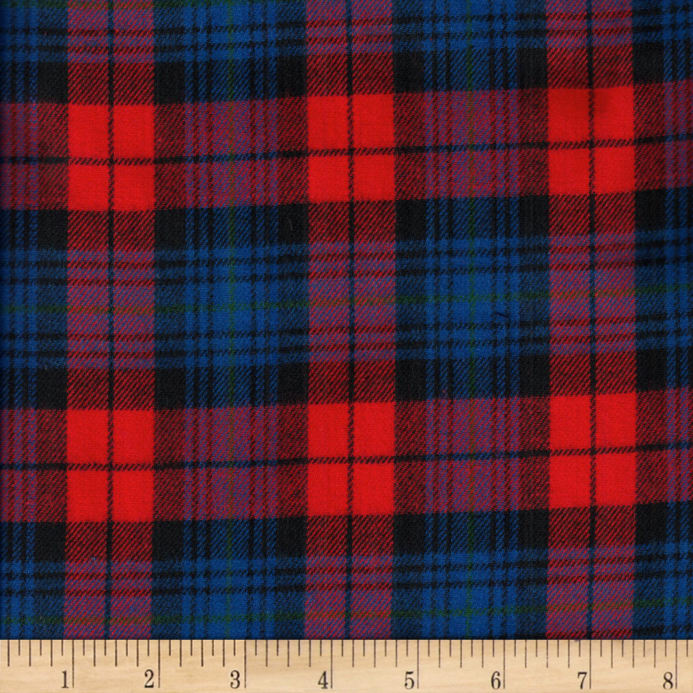 Windstar Twill Flannel Plaid Red Navy Royal Discount