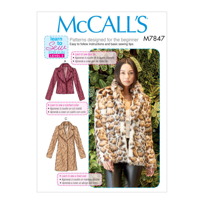 Mccall S M7847 Misses Jacket Coat Pattern Osz One Size Discount
