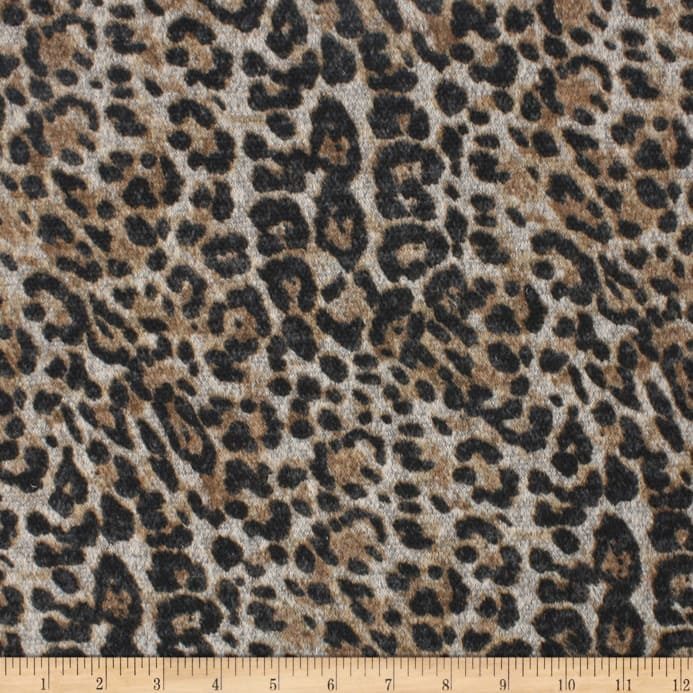 34b58ebb940 Telio Knit Knack Brushed Sweater Knit Animal Print Brown - Discount ...