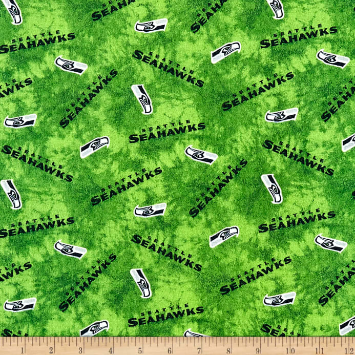 NFL Flannel Seattle Seahawks Green - Discount Designer Fabric ... 7e87b813c