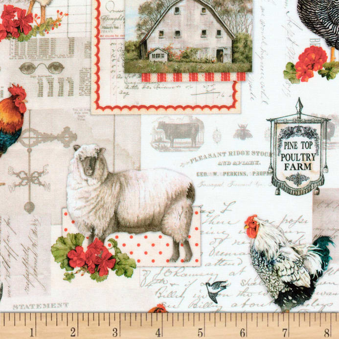 Kaufman Down On The Farm Animals Country Fabric